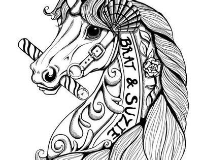 printable zentangle legend http dawnunicorn deviantart com art carousel unicorn