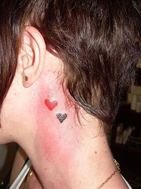 infinity heart tattoo behind ear love tattoo ideas and love tattoo designs page 17