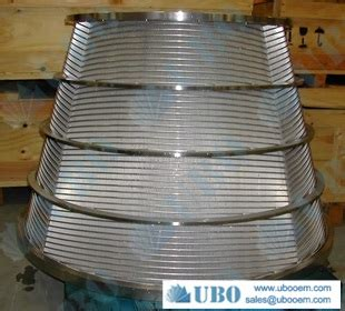 stainless steel316hc filter strainer baskets for pulp screening and fractionation wedge wire