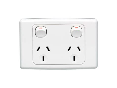 Home Decor Wholesaler by Clipsal 2025 Twin Switch Socket Outlet 250v 10a