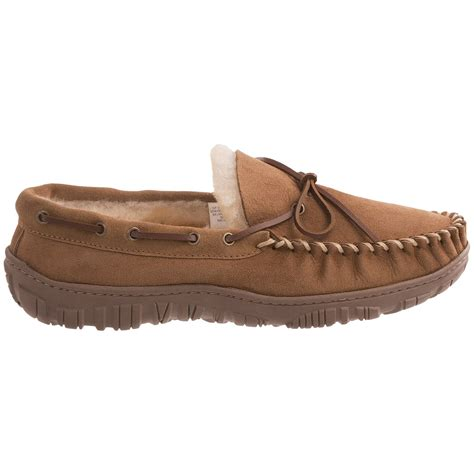 clarks slippers mens clarks moc shearling slippers for 7600k save 47