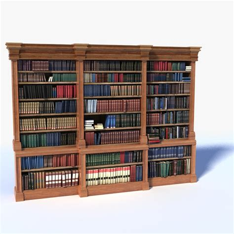 3d timber bookcase