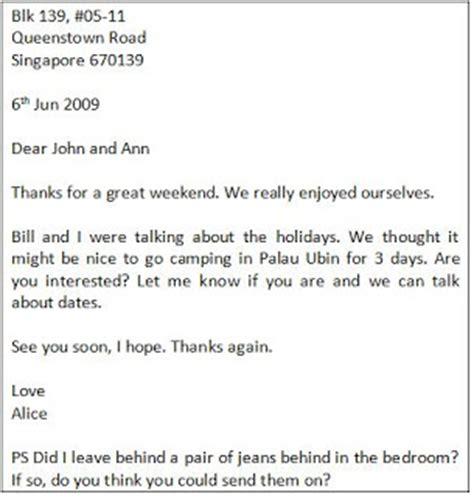 thank you letter sle informal informal letter template 28 images sle informal letter