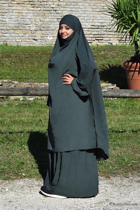 Jilbab Abaya Khimar jilbab set khimar rock mit gummibund waldgr 252 n 39 90 eu