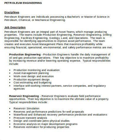 Senior Engineer Description by Production Engineering Related Post For Senior Engineer Description Production