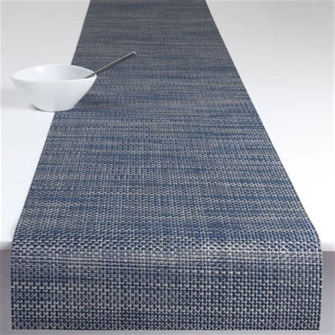 Chilewich Runner Rug Chilewich Basketweave Table Runner 14x72 Denim