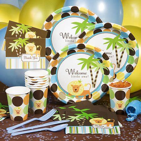King Of The Jungle Baby Shower by King Of The Jungle Baby Shower Pack For 8 Walmart