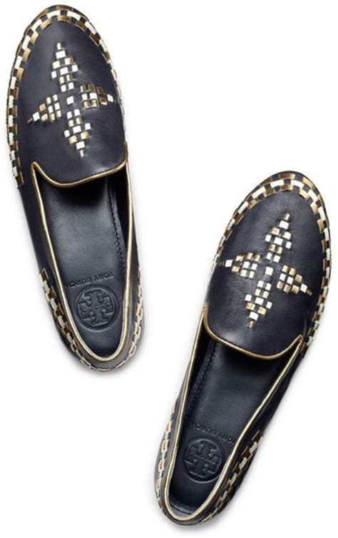 burch gold loafers burch marlow loafer in blue bright navy gold ivory