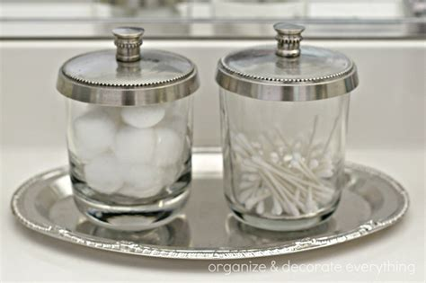 glass jars for bathroom 31 days of getting organized using what you have day 2