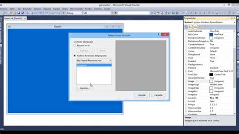imagenes en visual studio personalizar botones en visual studio 2010 doovi