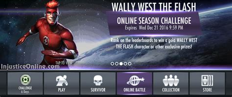 injustice mobile challenge rebirth wally west multiplayer challenge for injustice