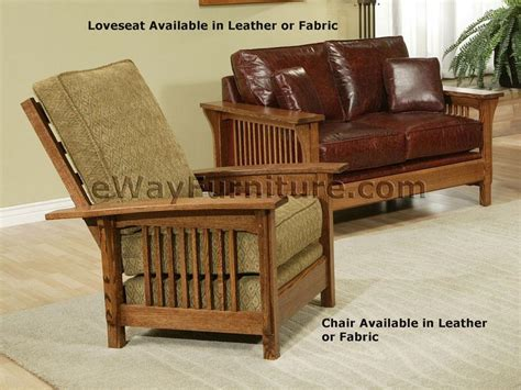 mission oak leather sofa american made mission style rift and quarter sawn oak