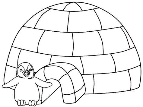 igloo coloring page preschool disegni inverno per bambini