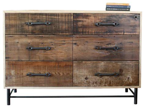 modern reclaimed wood dresser the franklin rustic modern industrial dresser made from