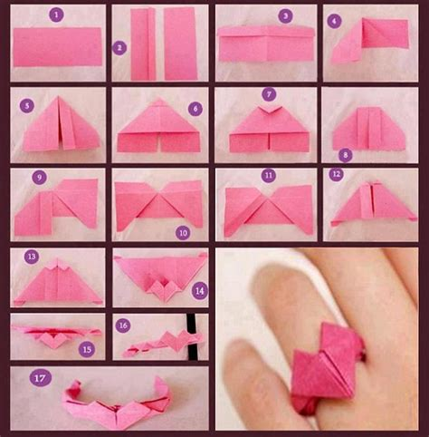 How To Make A Origami Ring - ayenyek cara buat origami cincin kertas