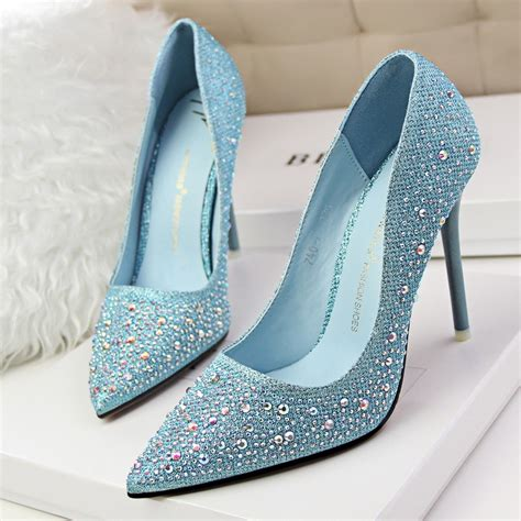 Heels Fashion Import 69 2016 new fashion silver rhinestone wedding