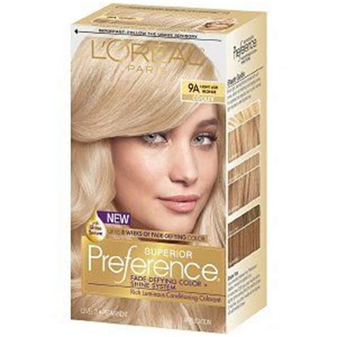 loreal preference hair color range l oreal preference light ash 9a reviews photo