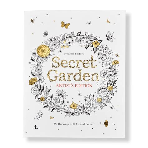 paradise artist edition coloring book books secret garden artist s edition coloring book levenger