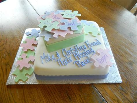 Adoption Shower Ideas by Missing Pieces Adoption Cake Ideas