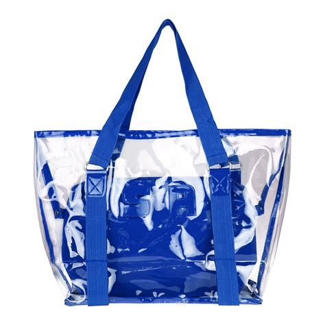 Fashion Tote Bag 2in1 Ac903 2 in 1 fashion transparent chagne jelly bag tote shoulder clear bag pvc ebay