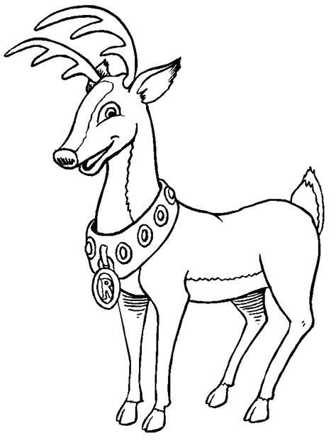 coloring pages of christmas reindeer christmas reindeer coloring pages coloringpages1001 com