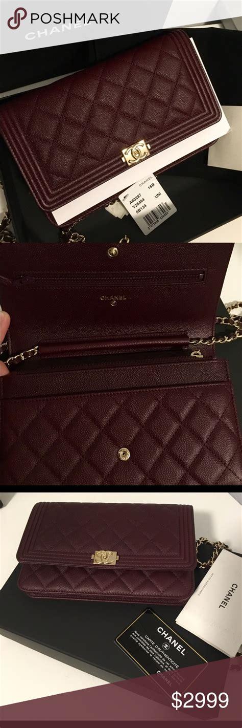 Chanel Boy Caviar Include Box Premium New Hardware 9003 new chanel classic boy wallet on chain woc caviar nwt