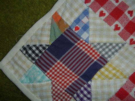 Patchwork Corner - file patchwork check tablecloth corner jpg