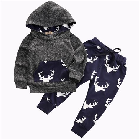 Promo Legging Baby And Animal Pant 3d tops hoodie top pant animals baby clothes set warm deer baby boys