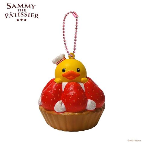 Squishy Pepaya Premium sammy the patissier strawberry tart squishy mascot