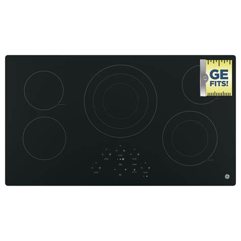 Ge Electric Cooktop Ge 36 In Radiant Electric Cooktop In Black With 5