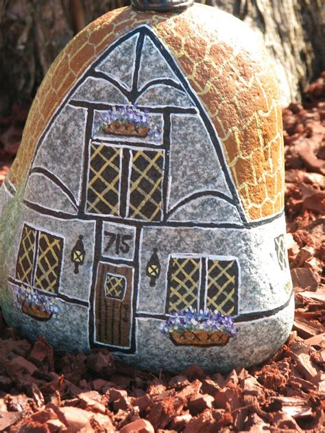 painted rock houses painted rock house rocks pinterest