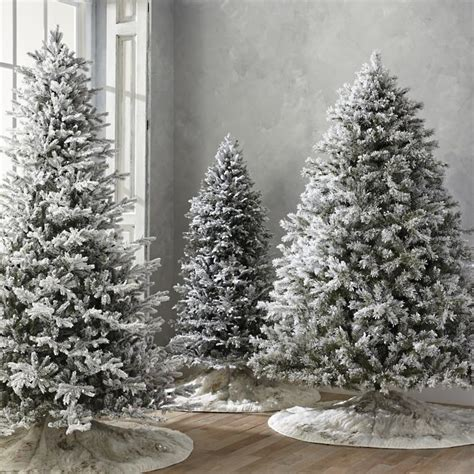 snowy alaskan cluster light tree flocked spruce artificial trees with meteor lights frontgate