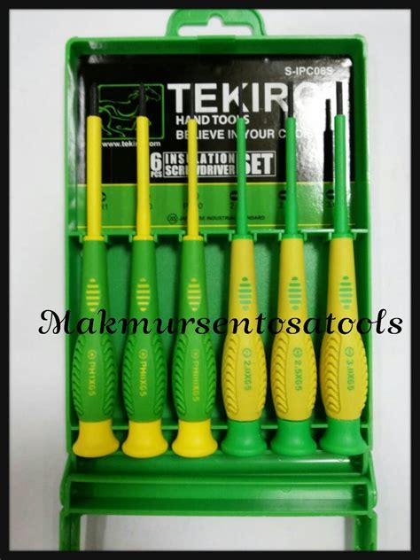 Tekiro Obeng 6 X 12 jual obeng set listrik presisi 6pcs tekiro makmursentosatools