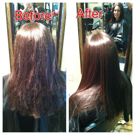 keratin hairstyle before and after a keratin treatment random pinterest