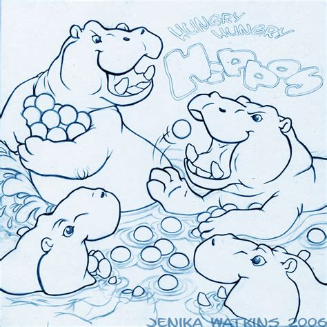 hungry hungry hippos coloring page hungry hungry hippos lineart by jwatkins on deviantart