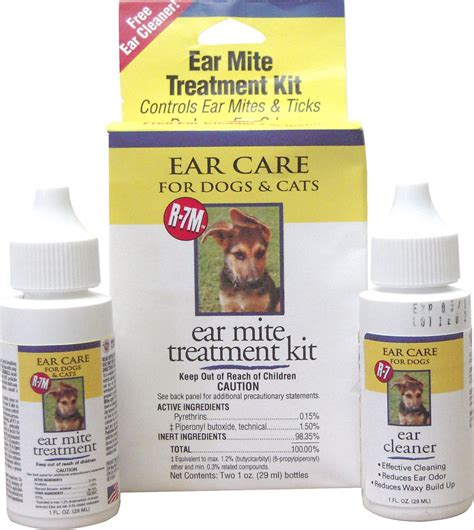ear mite treatment for dogs miracle care r 7m ear mite treatment kit with bonus ear cleaner for dogs cats