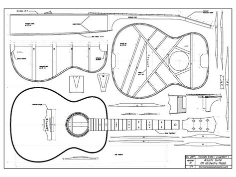 acoustic guitar template the gallery for gt acoustic guitar silhouette