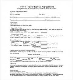 Trailer Rental Agreement Template by Sle Trailer Rental Agreement Template 7 Free