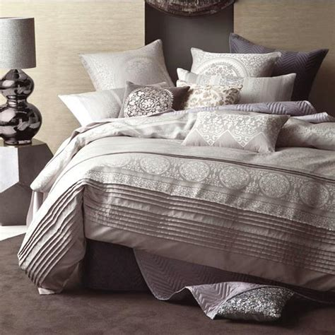 Linen Quilt Cover by Linen House Nadina Grey Jacquard King Quilt