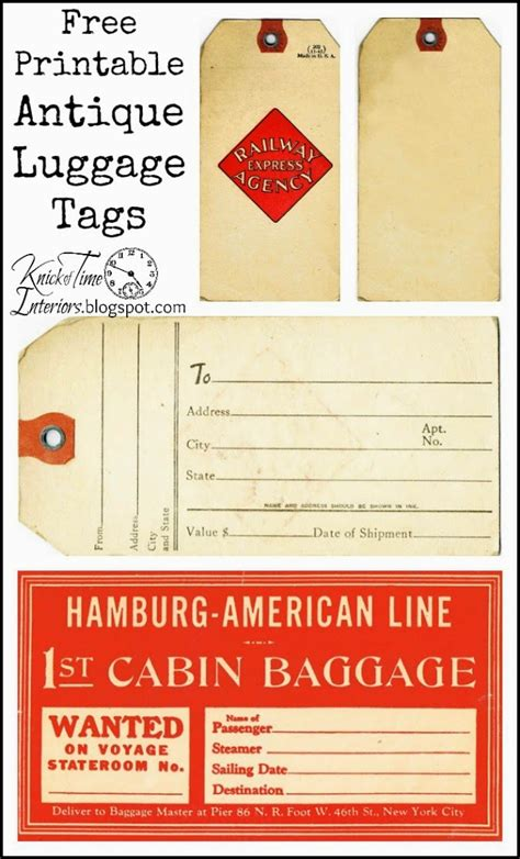 printable luggage tags antique graphics wednesday vintage luggage tags knick