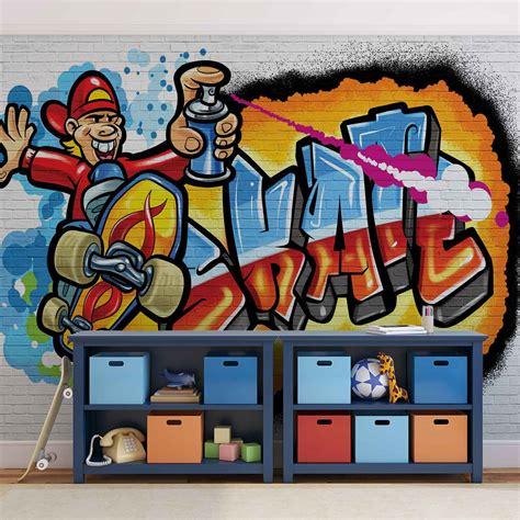 Graffiti Wall Mural graffiti skate wall mural photo wallpaper 3052dk ebay