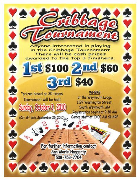 cribbage tournament flyer on behance
