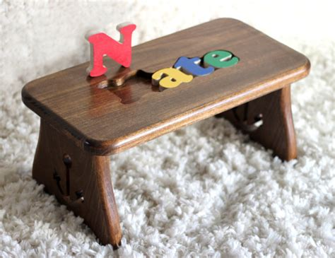 name puzzle stools and step name stools rachael edwards