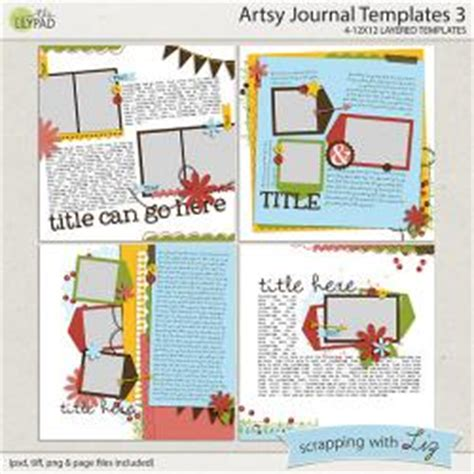 digital scrapbook template artsy journal 13 scrapping