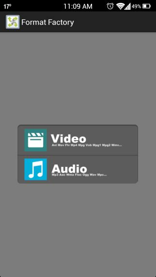 format audio android comment on format factory is a comprehensive audio video