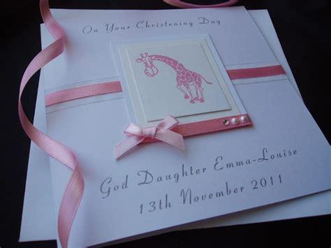 Christening Handmade Cards - giraffe christening card handmade cards pink posh