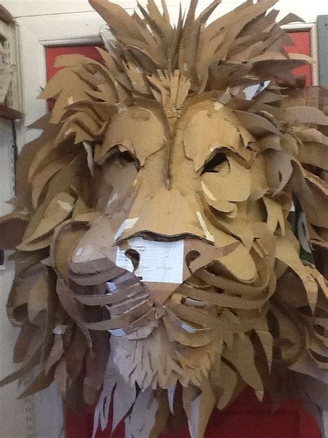 aslan  progress cardboard lion mask lion mask