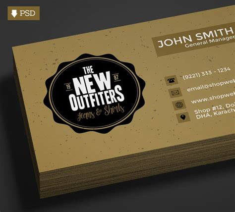 Vintage Business Cards Templates Free by 300 Best Free Business Card Psd And Vector Templates