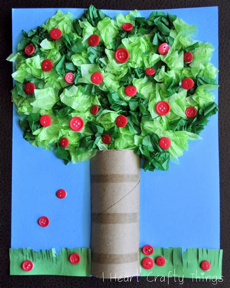 Craft Paper Tree - apple tree craft i crafty things
