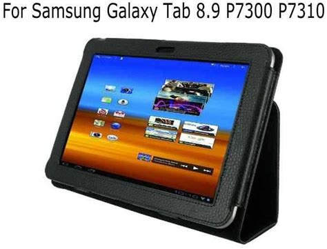Samsung Tab 8 P7300 fashion new pu leather stand holder cover for samsung galaxy tab 8 9 gt p7300 p7310 black